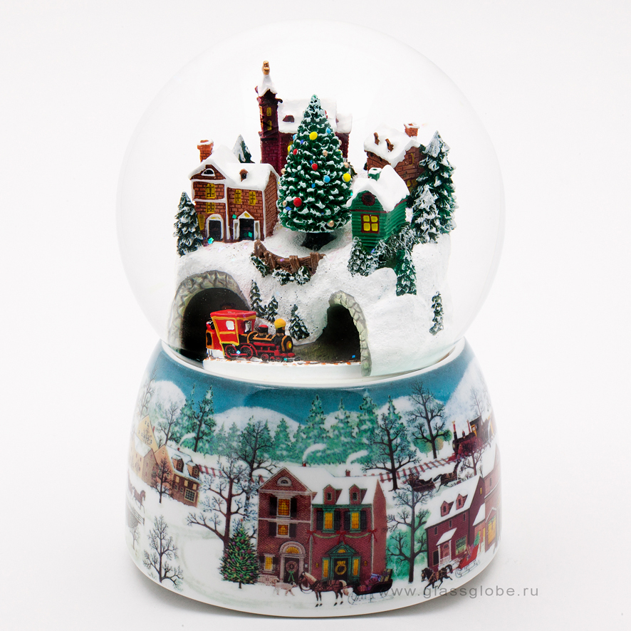 Снежный шар со снегом внутри 24
