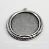 """Сеттинг - основа - подвеска """"Плетенка"""" для камеи или кабошона 25х18 мм (оксид серебра)"""