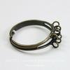 Основа для кольца с петельками (8 петелек) (цвет - античная бронза)
