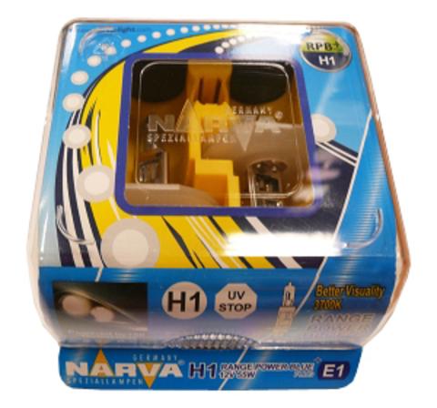 Галогенные лампы Narva H1 Range Power Blue (3700K) (2шт.)
