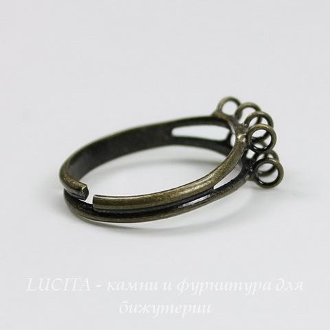 Основа для кольца с петельками (8 петелек) (цвет - античная бронза) ()