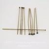 Винтажные пины - гвоздики (оксид латуни) 51х0,7 мм, 10 штук ()