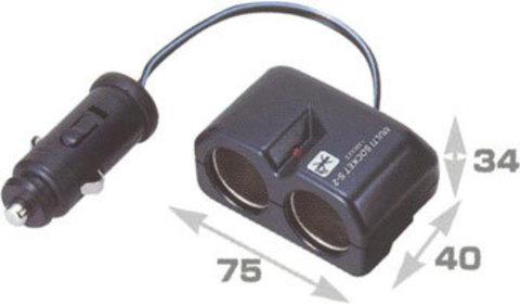 Разветвитель гнезда прикуривателя на 2 гнезда FIZZ-891
