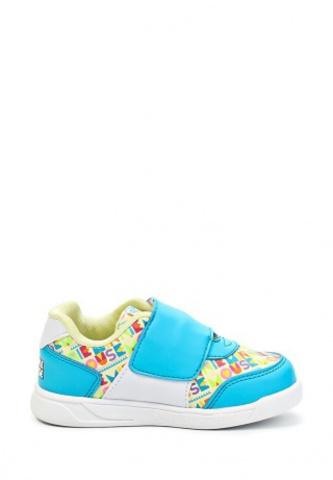 Кроссовки Минни Маус (Minnie Mouse) на липучке для девочек, цвет голубой белый. Изображение 6 из 8.