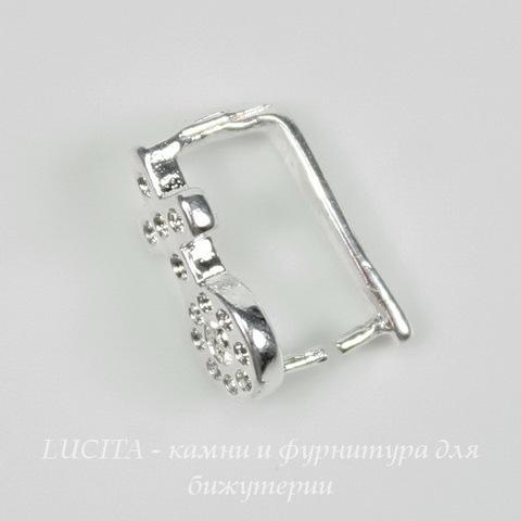 Держатель кулона 11х5 мм (цвет - серебро) ()