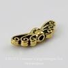 """Бусина TierraCast """"Крылья"""" 14х5 мм (цвет-античное золото) ()"""