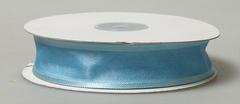 Лента органза с атласной полоской 2,5см голубой
