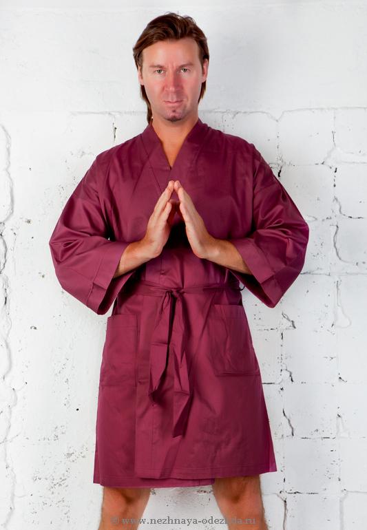 Халат с укороченным рукавом B&B (Мужские халаты)