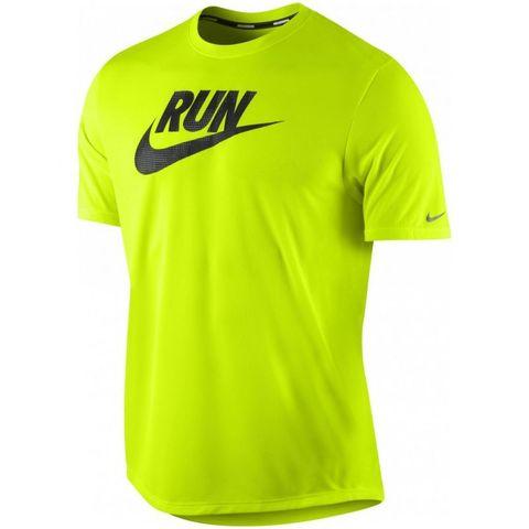 Футболка Nike Run Swoosh Tee салатовая