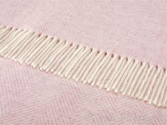 Плед шерстяной 140x185 Bronte Variegated Herringbone Pink Heather
