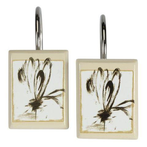 Набор из 12 крючков для шторки Botanical Collage от Creative Bath