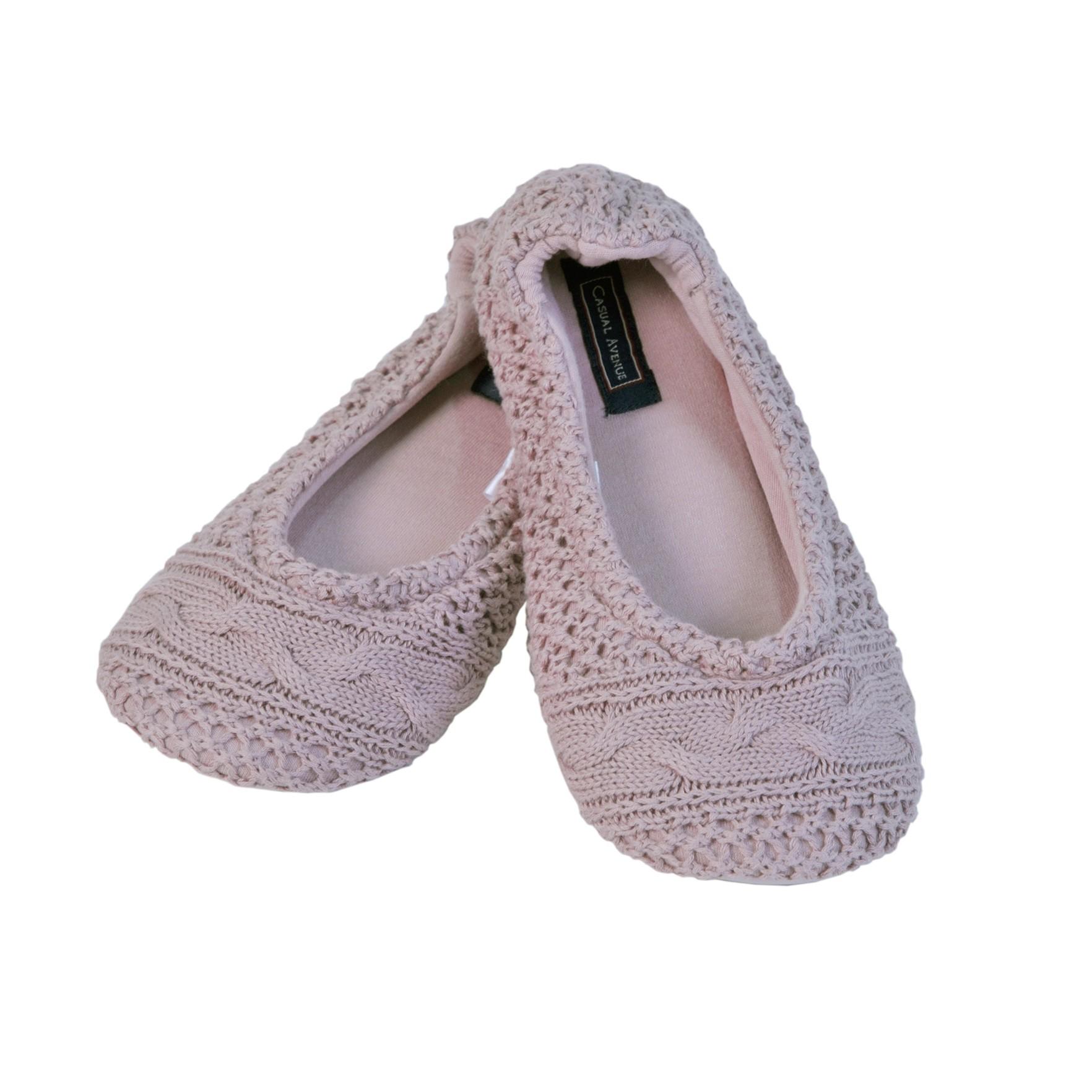 Домашние тапочки-балетки Casual Avenue Bradford розовые
