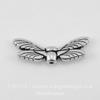"Бусина TierraCast ""Крылья стрекозы"" (цвет-античное серебро) 20х7 мм"