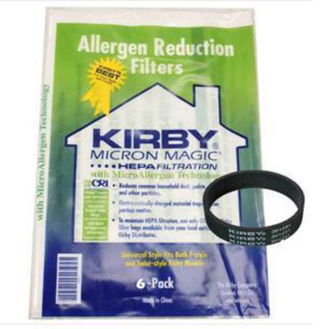 Экономь!  Набор Ремень +  6 универсальных Мешков Кирби Kirby Micron Magic подходят для всех моделей(ткань 6 шт)