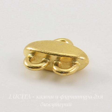 Коннектор TierraCast (1-2) 11х9 мм (цвет-золото) ()