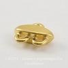 Коннектор (1-2) TierraCast (цвет-золото) 11х9 мм