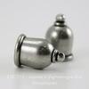 """Концевик для шнура 8 мм TierraCast """"Taj"""" (цвет-античное серебро) 16х11 мм"""