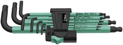 Набор Г-образных метрических ключей Wera BlackLaser 950 SPKL/9 SM N