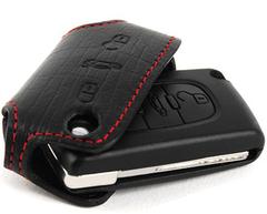 Чехол - брелок для Peugeot из натуральной кожи