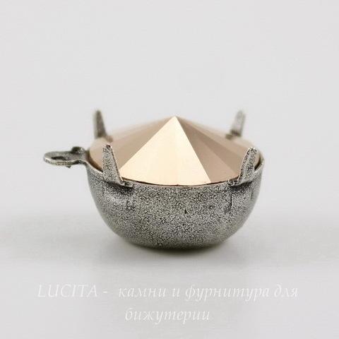 Сеттинг - основа - подвеска для страза 14 мм (оксид серебра) ()