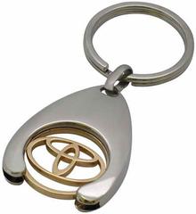 Брелок хромированный с логотипом Toyota