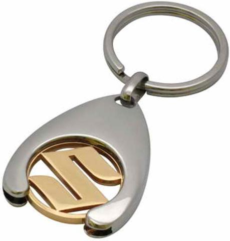Брелок хромированный с логотипом Suzuki