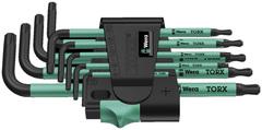 Набор Г-образных метрических ключей Wera BlackLaser 967 PKL/9 TORX