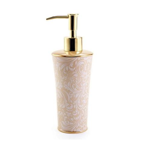 Дозатор для жидкого мыла Bedminster Scroll Creme Brulee от Kassatex