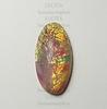 Кабошон винтажный розовый (опаловое стекло) (18х9)