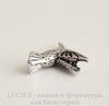 "Подвеска ""Колибри"" 18х14 мм (цвет - античное серебро)"
