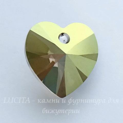 6228 Подвеска Сваровски Сердечко Crystal Iridescent Green (14,4х14 мм) ()