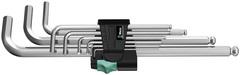 Набор Г-образных хромированных метрических ключей Wera 950 PKL/9 SM N