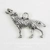 """Подвеска """"Волк"""" 3D (цвет - античное серебро) 25х17 мм"""