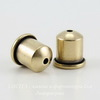 "Концевик для шнура 6 мм TierraCast ""Купол"" (цвет-античная латунь) 9х9 мм"