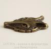 """Подвеска """"Лиса"""" (цвет - античная бронза) 33х25 мм"""