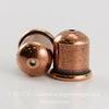 "Концевик для шнура 8 мм TierraCast ""Купол"" (цвет-античная медь) 12х11 мм ()"