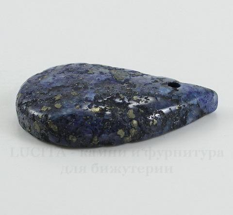 Подвеска Ляпис Лазурит (прессов., тониров) (цвет - темно-синий) 38х25,6х7,1 мм №12