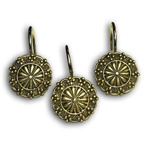 Набор из 12 крючков для шторки Sheffield Ant Gold от Carnation Home Fashions