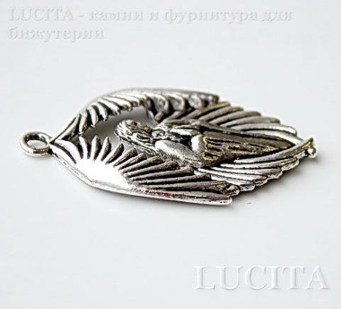 "Подвеска ""Архангел"" (цвет - античное серебро) 43х28 мм ()"