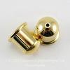 """Концевик для шнура 8 мм TierraCast """"Купол"""" (цвет-золото) 12х11 мм ()"""