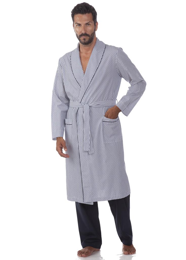 Мужской халат в полоску B&B (Мужские халаты)