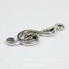 """Подвеска """"Скрипичный ключ"""" (цвет - античное серебро) 26х10 мм"""