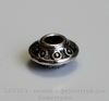Бусина - спейсер (цвет - античное серебро) 7х4 мм, 10 штук