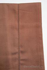 Наволочки 2шт 50х70 Caleffi Tinta Unita темно-коричневые