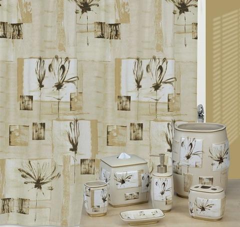 Набор из трёх элитных аксессуаров для ванной Botanical Collage от Creative Bath