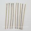 Винтажные пины - гвоздики 38х0,5 мм (оксид латуни), 10 штук