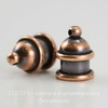 "Концевик для шнура 6 мм TierraCast ""Pagoda"" (цвет-античная медь) 13х10 мм"