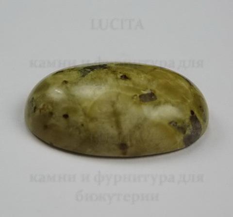 "Кабошон Яшма ""Шкура леопарда""  25х18 мм №11 ()"