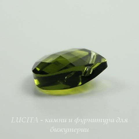 6012 Подвеска Сваровски Flat Briolette Olivine (11x10 мм) ()