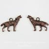 """Подвеска """"Волк"""" 3D (цвет - античная медь) 25х18 мм ()"""